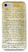 Emancipation Proc., P. 1 IPhone Case by Granger