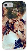 Empress Eugenie And Her Ladies In Waiting IPhone Case by Franz Xaver Winterhalter