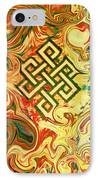 Endless Knot Two IPhone Case by Kevin J Cooper Artwork