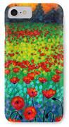 Evening Poppies IPhone Case by John  Nolan