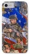 Fair Faces Of Courage IPhone Case by Karen Wilson