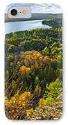 Fall Forest And Lake Top View IPhone Case by Elena Elisseeva