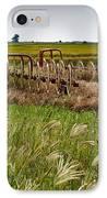 Farm Work Wiind And Rain IPhone Case by Douglas Barnett