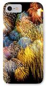 Fireworks Exploding  IPhone Case by Garry Gay