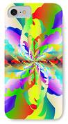 Flamboyant Fractal Fire Flower IPhone Case by Michael Skinner