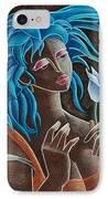 Flor Y Viento IPhone Case by Oscar Ortiz
