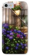Flower - Hydrangea - Hydrangea And Geraniums  IPhone Case by Mike Savad