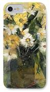 Flowers In White And Yellow IPhone Case by Nira Schwartz