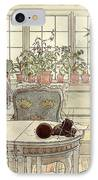 Flowers On The Windowsill IPhone Case by Carl Larsson