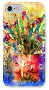 Flowery Illusion IPhone Case by Arline Wagner