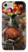Food - Easter Dinner IPhone Case by Mike Savad