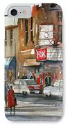 Fox Theater - Steven's Point IPhone Case by Ryan Radke