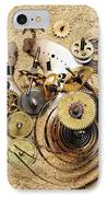 Fragmented Clockwork In The Sand IPhone Case by Michal Boubin