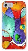 Free At Last Original Art By Madart IPhone Case by Megan Duncanson