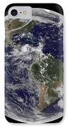Full Earth Showing North America IPhone Case by Stocktrek Images