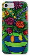 Funky Town Bouquet IPhone Case by Lisa  Lorenz