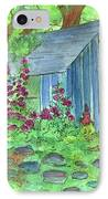Garden Potting Shed IPhone Case by Cathie Richardson