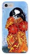 Geisha Chin IPhone Case by Kathleen Sepulveda