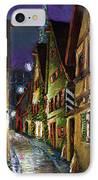 Germany Ulm Old Street Night Moon IPhone Case by Yuriy  Shevchuk