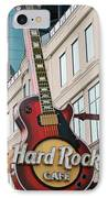 Gibson Les Paul Of The Hard Rock Cafe IPhone Case by DigiArt Diaries by Vicky B Fuller