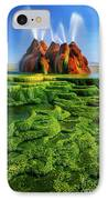 Green Fly Geyser IPhone Case by Inge Johnsson