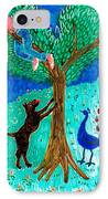 Guard Dog And Guard Peacock  IPhone Case by Sushila Burgess