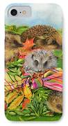 Hedgehogs Inside Scarf IPhone Case by EB Watts