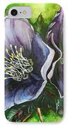 Helleborous Blue Lady IPhone Case by Karin  Dawn Kelshall- Best