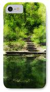 Hidden Pond At Schuylkill Valley Nature Center IPhone Case by Bill Cannon