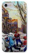 Hockey On De Bullion  IPhone Case by Carole Spandau