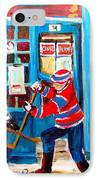 Hockey Sticks In Action IPhone Case by Carole Spandau