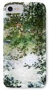 Ile De La Grande Jatte Through The Trees IPhone Case by Claude Monet