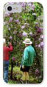 In The Lilac Garden IPhone Case by Susan Savad