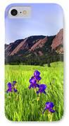 Iris And Flatirons IPhone Case by Scott Mahon