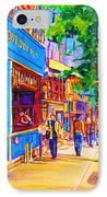 Irish Pub On Crescent Street IPhone Case by Carole Spandau