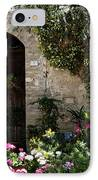 Italian Front Door Adorned With Flowers IPhone Case by Marilyn Hunt