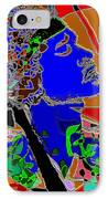 Jimi In Heaven Colorful IPhone Case by Navo Art