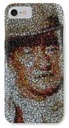 John Wayne Bottle Cap Mosaic IPhone Case by Paul Van Scott