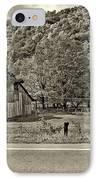 Kindred Barns Sepia IPhone Case by Steve Harrington