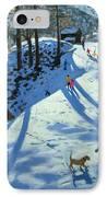 Large Snowball Zermatt IPhone Case by Andrew Macara