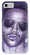 Lenny Kravitz IPhone Case by Maria Arango