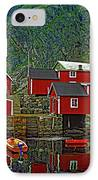Lofoten Fishing Huts IPhone Case by Steve Harrington