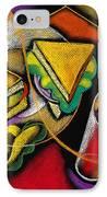 Lunch IPhone Case by Leon Zernitsky