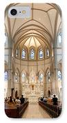 Lunchtime Mass At Saint Paul Cathedral Pittsburgh Pa IPhone Case by Amy Cicconi