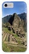 Machu Picchu And Bromeliad IPhone Case by James Brunker