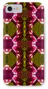 Magenta Crystal Pattern IPhone Case by Amy Vangsgard
