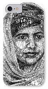 Malala Yousafzai IPhone Case by Michael  Volpicelli