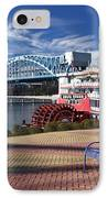 Market Street Bridge With The Delta Queen From Coolidge Park IPhone Case by Tom and Pat Cory