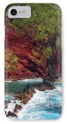 Maui Red Sand Beach IPhone Case by Inge Johnsson