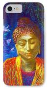 Meeting With Buddha IPhone Case by Jane Small